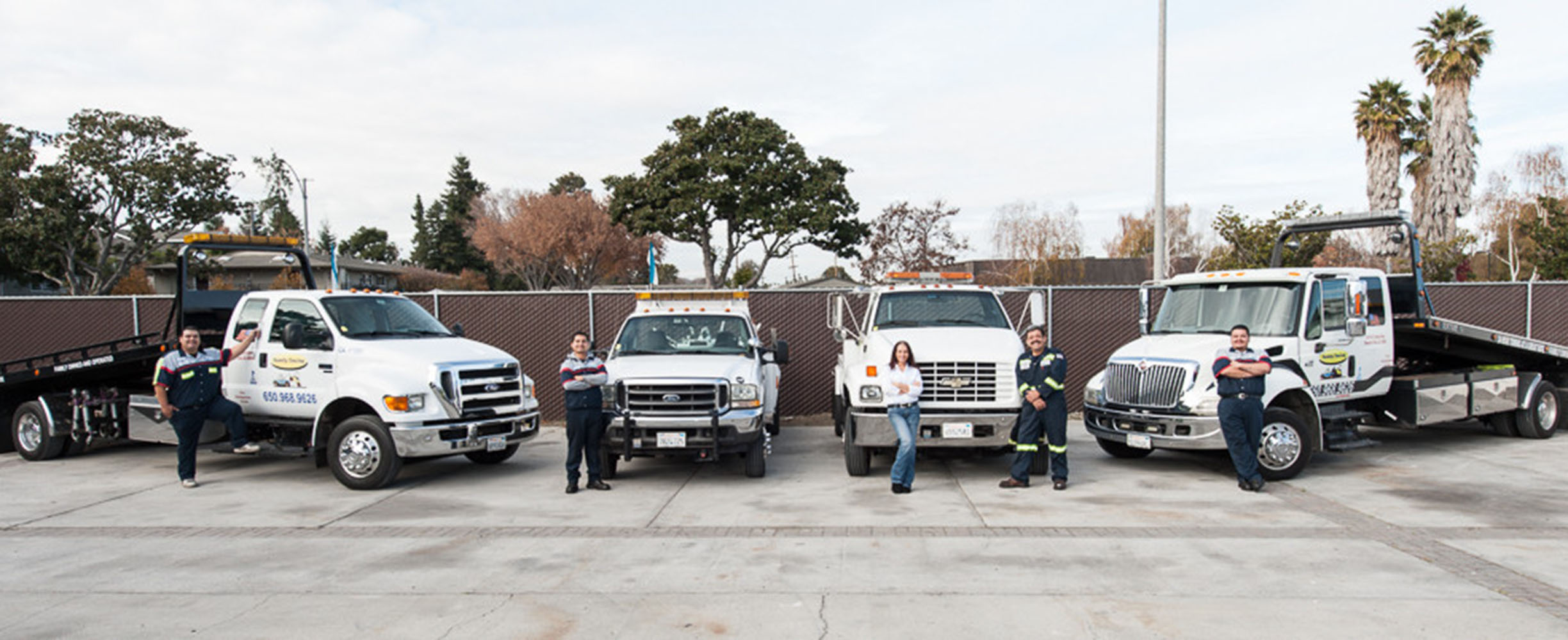 Towing trucks and emergency roadside services in Mountain View and the San Francisco Bay Area